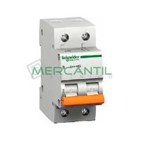 Interruptor Magnetotermico 2P 20A Sector Vivienda SCHNEIDER ELECTRIC