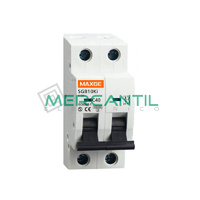 Interruptor Magnetotermico 2P 63A 500Vcc SC6 Industrial RETELEC