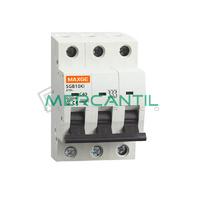 Interruptor Magnetotermico 3P 4A SGB10Ki Industrial RETELEC