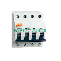 Interruptor Magnetotermico 4P 0.5A 750Vcc SC6 Industrial RETELEC