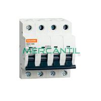 Interruptor Magnetotermico 4P 10A 750Vcc SC6 Industrial RETELEC