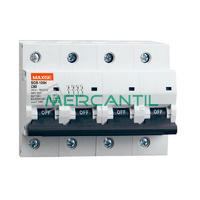 Interruptor Magnetotermico 4P 125A SGB125H Industrial RETELEC