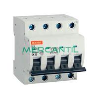 Interruptor Magnetotermico 4P 4A SGB6K Industrial-Terciario RETELEC