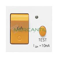 Interruptor Magnetotermico y Diferencial 10A 2 Modulos Zenit NIESSEN - Color Blanco