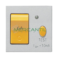 Interruptor Magnetotermico y Diferencial 16A 2 Modulos Zenit NIESSEN - Color Plata