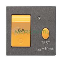Interruptor Magnetotermico y Diferencial 6A 2 Modulos Zenit NIESSEN - Color Antracita