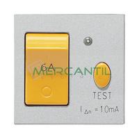 Interruptor Magnetotermico y Diferencial 6A 2 Modulos Zenit NIESSEN - Color Plata