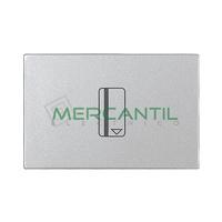 Interruptor Mecanico de Tarjeta con Lampara LED Incorporada 16AX 2 Modulos Zenit NIESSEN - Color Plata