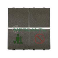 Interruptor Servicio/No Molestar para Señalizadores 2 Modulos Zenit NIESSEN - Color Antracita