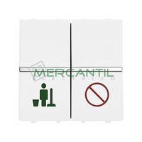 Interruptor Servicio/No Molestar para Señalizadores 2 Modulos Zenit NIESSEN - Color Blanco