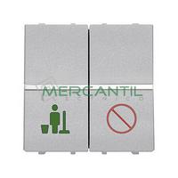 Interruptor Servicio/No Molestar para Señalizadores 2 Modulos Zenit NIESSEN - Color Plata