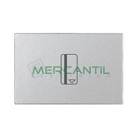Interruptor Tarjeta con Lampara LED Incorporada Temporizacion Desconexion 2 Modulos Zenit NIESSEN - Color Plata