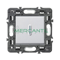 Interruptor Unipolar Iluminable 10AX Valena Next LEGRAND - Color Aluminio