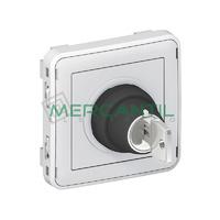Interruptor con Llave 3A - 230V 3 Posiciones-2 Contactos NA/NA Plexo LEGRAND