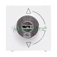 Interruptor de Llave 2 Posiciones 2 Modulos Zenit NIESSEN - Color Blanco