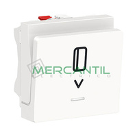 Interruptor de Tarjeta 10A 2 Modulos New Unica SCHNEIDER ELECTRIC