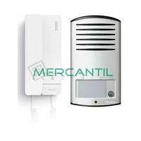 Kit Audio V1 2 Hilos para 1 Vivienda SERIE 8 y LINEA 2000 TEGUI - 1 Telefono y 1 Placa