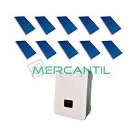 Kit Autoconsumo Instantaneo FV 3kW 10 Paneles Red Monofasica 230V Coplanar RETELEC