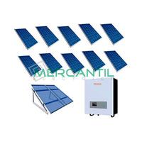 Kit Autoconsumo para Acumulacion FV 3kW 10 Paneles Red Monofasica 230V Telescopica RETELEC