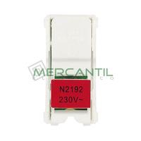 Kit Iluminacion LED para Interruptores Bipolares/Conmutadores/Cruzamientos con Visor 1 Modulo Zenit NIESSEN - Color Rojo
