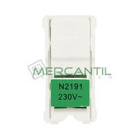 Kit Iluminacion LED para Interruptores Unipolares/Pulsadores con Visor 1 Modulo Zenit NIESSEN - Color Verde