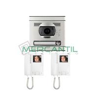 Kit Videoportero Convencional Color V2 para 1 Vivienda Serie 7 TEGUI - 2 Monitores y 1 Placa
