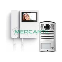 Kit Videoportero V1 2 Hilos para 1 Vivienda SERIE 8 y LINEA 2000 TEGUI - 1 Monitor y 1 Placa