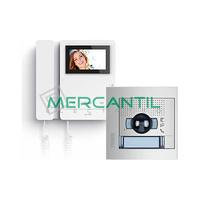 Kit Videoportero V1 2 Hilos para 1 Vivienda SERIE 8 y SFERA NEW TEGUI - 1 Monitor y 1 Placa