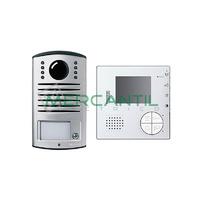 Kit Videoportero V1 Manos Libres para 1 Vivienda LINEA 2000 CLASSE 100V12B TEGUI - 1 Monitor y 1 Placa