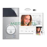 Kit Videoportero V1 Tactil con Manos Libres WI-FI para 1 Vivienda LINEA 3000 C300X13E TEGUI