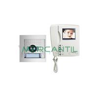 Kit Videoportero V1 para 1 Vivienda SWING Color y SFERA NEW TEGUI - 1 Monitor y 1 Placa