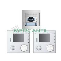 Kit Videoportero V2 Manos Libres para 1 Vivienda SFERA NEW CLASSE 100V12B TEGUI - 2 Monitores y 1 Placa