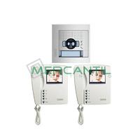 Kit Videoportero V2 para 1 Vivienda SWING Color y SFERA NEW TEGUI - 2 Monitores y 1 Placa