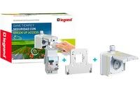 Kit de tomas cargadores coches electricos Green UP listo para instalar Legrand