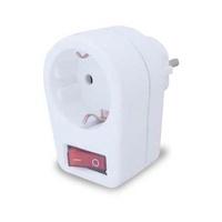 Ladron simple con interruptor para enchufes schuko 2P+T proteccion niños GSC