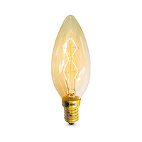 Lampara vela decorativa vintage 40W E14 regulable incandescencia GSC