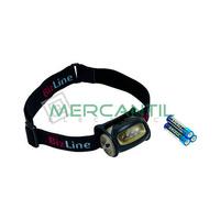 Linterna Frontal Orientable con 4 LED BIZLINE