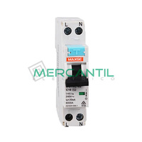 Magnetotermico y Diferencial Estrecho 2P 6A 30mA A SGNL Industrial-Terciario RETELEC