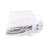 Manta electrica doble 2x60W con 2 mandos 2 niveles de temperatura polyester blanco GSC