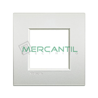 Marco Cuadrado Universal Living Light Air BTICINO - Color Blanco Perla