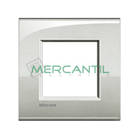 Marco Cuadrado Universal Living Light Air BTICINO - Color Plata Lunar
