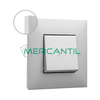 Marco Embellecedor 1 Elemento Base Aluminio Valena Next LEGRAND - Color Cromo