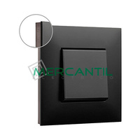 Marco Embellecedor 1 Elemento Base Dark Valena Next LEGRAND - Color Cromo Oscuro