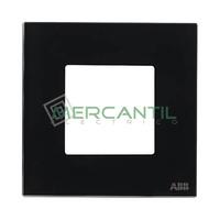 Marco Embellecedor 1 Elemento Zenit NIESSEN - Color Cristal Negro