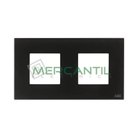 Marco Embellecedor 2 Elementos Zenit NIESSEN - Color Cristal Negro