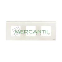 Marco Embellecedor 3 Elementos Zenit NIESSEN - Color Cristal Blanco