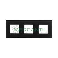 Marco Embellecedor 3 Elementos Zenit NIESSEN - Color Cristal Negro