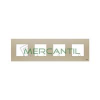 Marco Embellecedor 4 Elementos Zenit NIESSEN - Color Cava