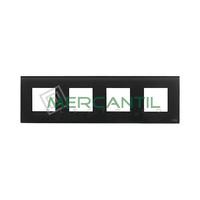 Marco Embellecedor 4 Elementos Zenit NIESSEN - Color Cristal Negro