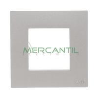 Marco Embellecedor Basico 1 Elemento Zenit NIESSEN - Color Plata